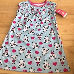 New adorable panda nightgown 2t
